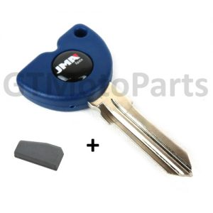 Key to fit Piaggio Vespa Gilera Scooters with Transponder Chip